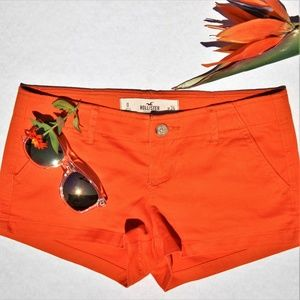 "Women's Hollister Shorts Orange Size 0 29"" Waist"